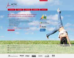 Conception du site Internet de la société d'informatique Activ France http://www.activfrance.com  #website #siteweb #webagency #agenceweb #opteam #normandie #lehavre #informatique