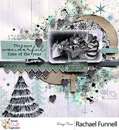 Anna's Craft Cupboard Kaisercraft - Wonderland 'Love being together' layout by Rachael Funnell (A window to my scrapping world) Christmas Scrapbook Layouts, Scrapbook Designs, Scrapbooking Layouts, Christmas Layout, Baby Scrapbook, Scrapbook Cards, Craft Cupboard, Cupboard Design, Anna Craft