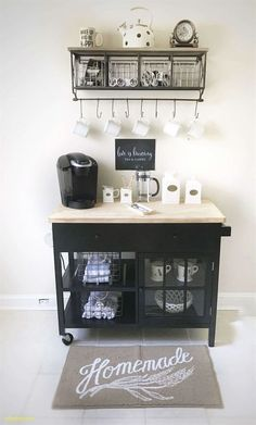 Coffee bar ideas for office #uniquecoffeebarideas
