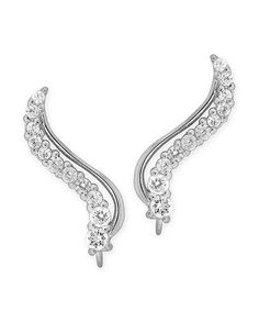 Look what I found on #zulily! Cubic Zirconia & Sterling Silver Curve Ear Pins® by Orogem #zulilyfinds
