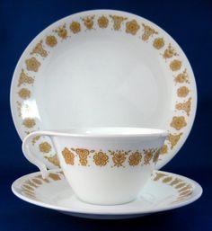 Corelle Butterfly Gold dinnerware
