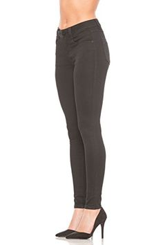 Rubberband Stretch Womens HighRise Skinny Jeans ElenaBlack Size 28 78 -- You can find out more details at the link of the image. Denim Shorts, Black Jeans, Sweatpants, Skinny Jeans, Lady, Image, Women, Fashion, Moda