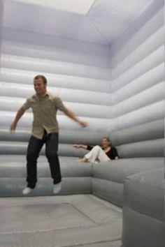 Indoor trampoline!