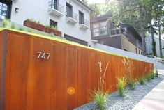Cor-ten steel retaining wall...Landscape Love collaboration with the lovely Mr. Paul Tierney! www.landscapelovegardens.com