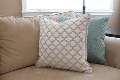 corded pillow diy
