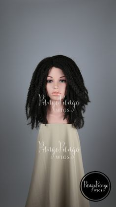 Brown Dreadlocks Wig Curly Long Dreads Costume By