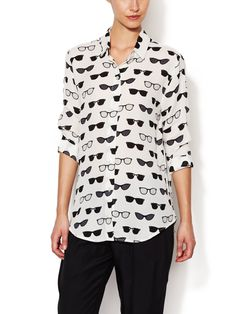 Classic Printed Silk Shirt from Trending Now: Fashion Under $100 on Gilt
