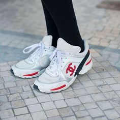 Time to grab a paper bag and breathe deeply: Chanel has just dropped an epic amount of 'dad'-style trainers on its site. Originally shown as part of itsspring/summer 2018 pre-collection show, the fashion house's sneakers are bright, white, and edged with either red, orange, ...