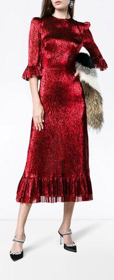 THE VAMPIRES WIFE metallic Falconetti dress, explore new season now on Farfetch.