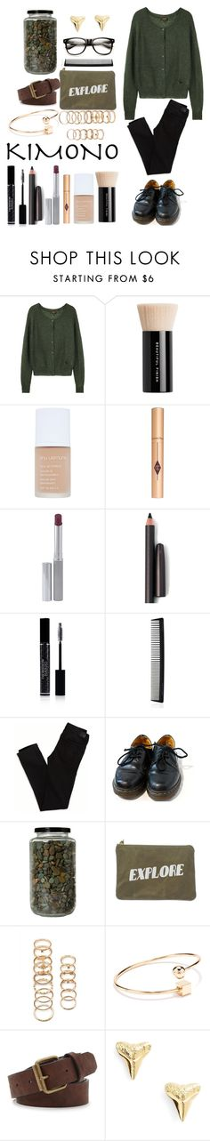 """""""bored af"""" by i-dont-care-av ❤ liked on Polyvore featuring moda, Le Mont St. Michel, Bare Escentuals, shu uemura, Clinique, Laura Mercier, Christian Dior, T3, American Eagle Outfitters y Dr. Martens"""