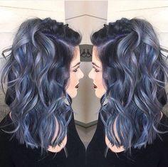 Deep purple and blue hair  By Janai Hart