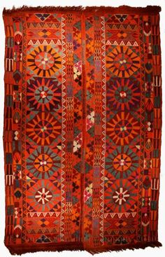 A Marsh Arab kilim, Iraq. Beautiful example of their art. via Sun Bow Trading