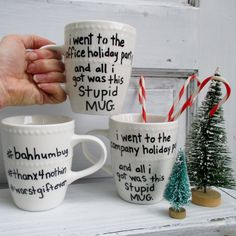 office company party mug for holiday christmas gift exchange ... funny and affordable ... white elephant yankee swap for sale on etsy by sunflowerkittycat