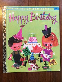 Happy Birthday by Elsa Ruth Nast,  (Party Cut-Out Book) Little Golden Books, published 1973. Hardcover *VGC* Vintage 1973 Little Golden Book by weseatree on Etsy