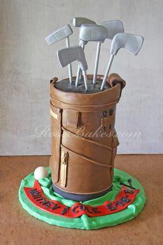 Golf Bag Cake 1
