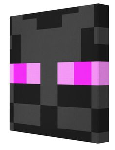 Minecraft Enderman Face Canvas from Pics On Canvas