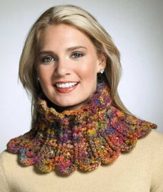 Crochet is so relaxing! But if mountains of partial skeins and 'someday' yarns are causing calamity in your closets, it can be difficult to decide what to make next. With Drew Emborsky's quick and easy stash busters, you can clean up the clutter! Col Crochet, Crochet Collar, Crochet Shawl, Crochet Stitches, Beginner Crochet Projects, Crochet Patterns For Beginners, Knitting Patterns, Knitted Shawls, Crochet Scarves