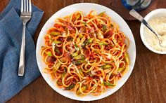 Make mealtime a family affair.  This great pasta recipe and an extra set of hands to help, dinner for the whole family can be ready in no time.