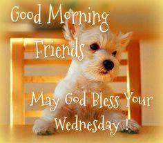 Good Morning for Wednesday