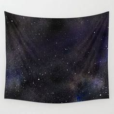 Watercolour Galaxy Starry Night Wall Tapestry