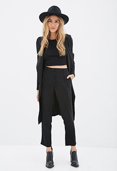 High-Waisted Crepe Pants | FOREVER21 - 2000082558