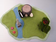 Woods felt playmat // alfombra de juegos, un bosque en fieltro