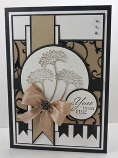elegant card in neutral colors ... many layers ... Stampin' Up! ... Mojo Sketch # 250