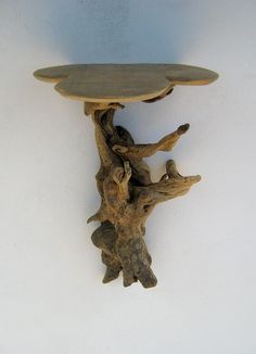 Awesome driftwood shelf