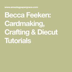 Becca Feeken: Cardmaking, Crafting & Diecut Tutorials Pretty Pink Posh, Spellbinders Cards, Embossed Cards, Hero Arts, Becca, Cardmaking, Paper Crafts, Crafting, Tutorials