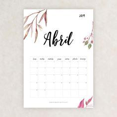 Calendario 2019 para imprimir - Papelería para Imprimir Diy Agenda, Bullet Journal 2019, Moon Painting, Girl Meets World, School Hacks, Free Printables, Diy And Crafts, Stationery, Notebook
