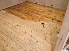 Victorian floorboards, sanded and varnished. Wooden Flooring, Hardwood Floors, Solid Oak Doors, Massage Room, Family Room, New Homes, Dining Room, Fitted Wardrobes, Victorian
