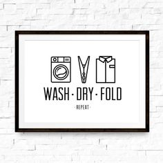 1114 Laundry Room Print Laundry Room Print Laundry Room Art Laundry Room Poster Laundry Wall A Laundry Shop, Laundry Room Art, Modern Laundry Rooms, Laundry Room Signs, Minimal Art, Minimal Poster, Minimal Decor, Laundry Room Printables, Laundry Humor