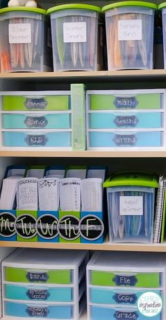 Storing daily lesson materials, weekly copies, centers, and monthly projects in one organized cabinet makes accessing teaching resources a breeze.