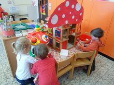Reuzen en kabouters - Themahoek/tafel - UK&Puk. Het poppenhuis wordt een paddenstoel!