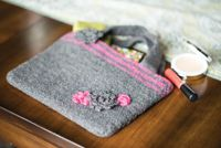 Felt and Flowers Bag - An easy, #felted #purse pattern from Love of #Crochet magazine