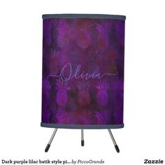 Dark purple lilac batik style pineapple pattern table lamp Purple Accents, Purple Lilac, Dark Purple, Pink, Linen Lamp Shades, Batik Pattern, Pineapple Pattern, Incandescent Light Bulb, Home Decor Online