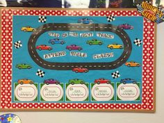 Hands On Bible Teacher: RACEWAY ATTENDANCE CHART AND BULLETIN BOARD