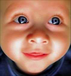 -Baby With Beautiful Blue Eyes -