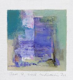 "Jan. 8, 2018 9 cm x 9 cm (app. 4"" x 4"") oil on canvas  © 2018 Hiroshi Matsumoto www.hiroshimatsumoto.com"