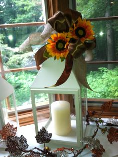 Fall lantern decoration