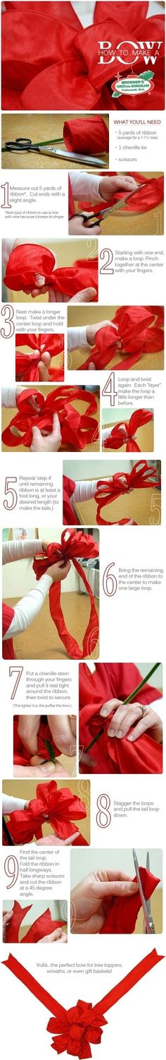 how to make a bow from Bronner's CHRISTmas Wonderland by ly-doris
