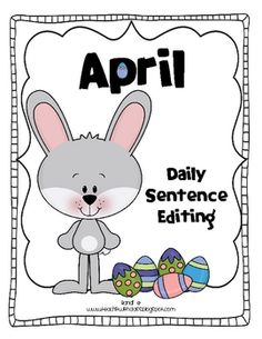 This is an April themed half page booklet for daily sentence editing. I can't handle cutting and gluing strips of paper in notebooks so I created m...