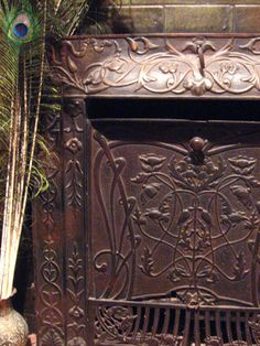 art nouveau + fireplace