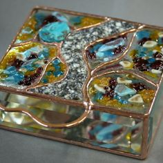 Handcrafted Fused Glass Boxes from glass artist Neal Hearn  www.boxesbyneal.com