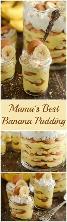 Mama's Best Banana Pudding! It's a quick family classic with a secret ingredient that truly makes it the best ever!