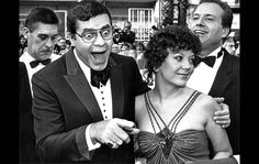 May 7, 1983: Jerry Lewis strikes a classic pose while arriving at the opening ceremonies of the Cannes Film Festival accompanied by his wife, SanDee.  Married in 1983/ 30 years