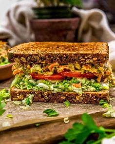 Rich, creamy, and flavorful, this fun, oil-free Veggie Sandwich Spread will instantly up your lunchtime sandwich game! #wholefoodplantbased #vegan #oilfree #glutenfree #plantbased   monkeyandmekitchenadventures.com Heart Healthy Recipes, Veggie Recipes, Whole Food Recipes, Veggie Meals, Vegetarian Recipes, Sandwich Fillings, Veggie Sandwich, Vegan Sandwiches, Mcdougall Recipes