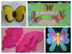 Mariposa 3D, ¡con la técnica termoformado!