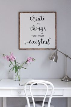 DIY Farmhouse Style Decor Ideas for the Bedroom - DIY Wood Sign With Calligraphy Quote - Rustic Farm House Ideas for Furniture, Paint Colors, Farm House Decoration for Home Decor in The Bedroom - Wall Art, Rugs, Nightstands, Lights and Room Accessories http://diyjoy.com/diy-farmhouse-decor-bedroom