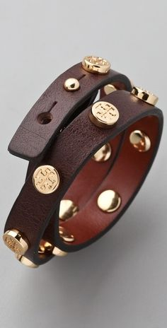 Tory Burch wrap bracelet.